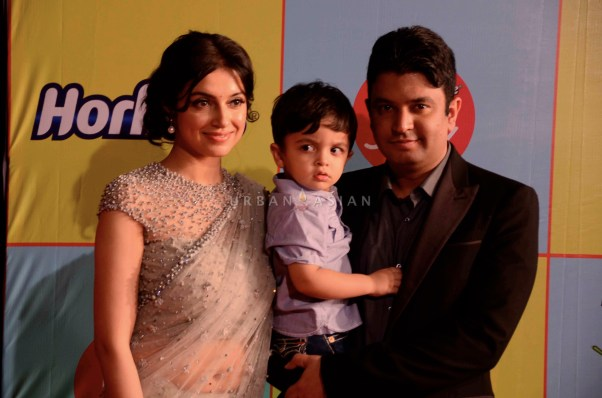 Bhushan Kumar With his wife Divya Khosla and son