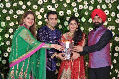 Mohit Gambhir Aanchal Chadha Charan Singh Sapra With His Wife