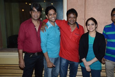 Producer Mushtaq Ali, O.P. Prashant Misale, Director Deepak Kadam, and Bela Shende