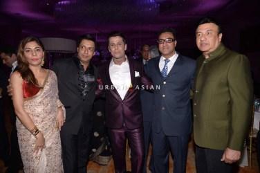 Anu Malik and Madhur Bhandarkar at Uday Singh and Shirin recepetion Party