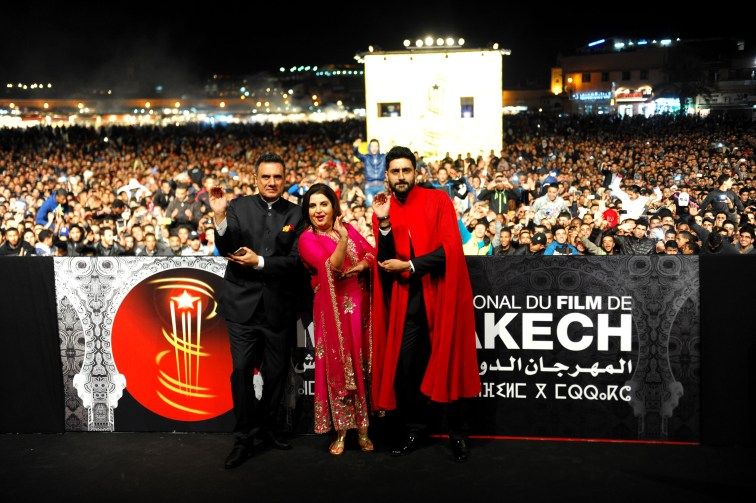Film Happy New Year team at Jemaa El Fna Square at the 14th Marrakech International Film Festival (1)