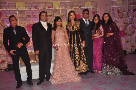 Gauhar Khan at Uday Singh and Shirin recepetion Party