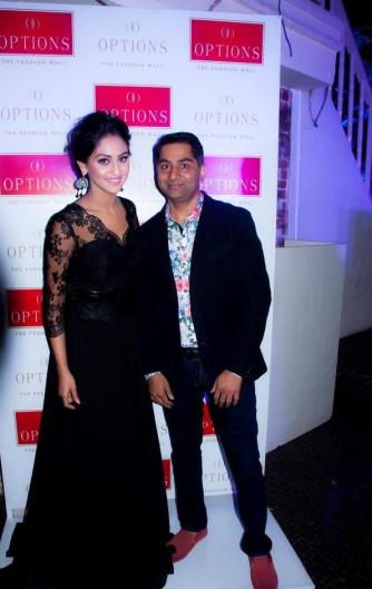 Krystle D`souza & Dharmesh Patel,Director of Options Fashion Mall