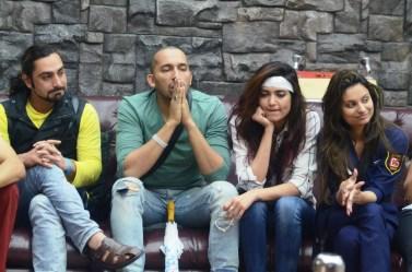 Praneet Bhatt, Ali Quli Mirza, Karishma Tanna and Dimpy Mahajan on Bigg Boss