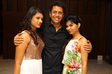 Ruchi, Anand with Priyanka at B'day party