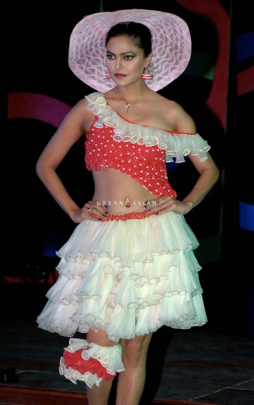 Models walks the ramp at Skore Fashionista, India's first condom fashion show