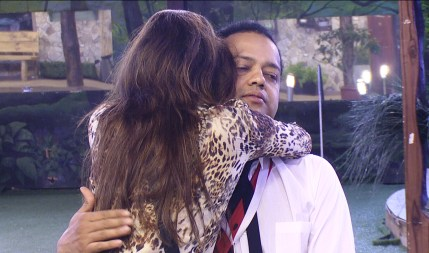 Dimpy Mahajan hugs her enstranged husband Rahul on Bigg Boss Halla Bol
