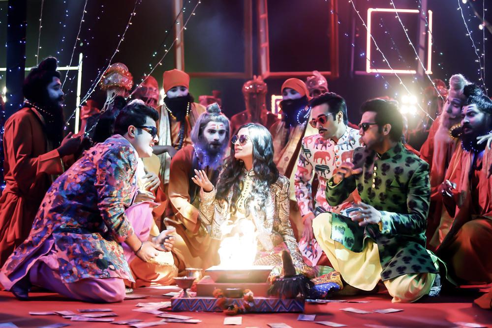 Sonam Kapoor with Varun Sharma, Pulkit Samrat and Rajkummar Rao