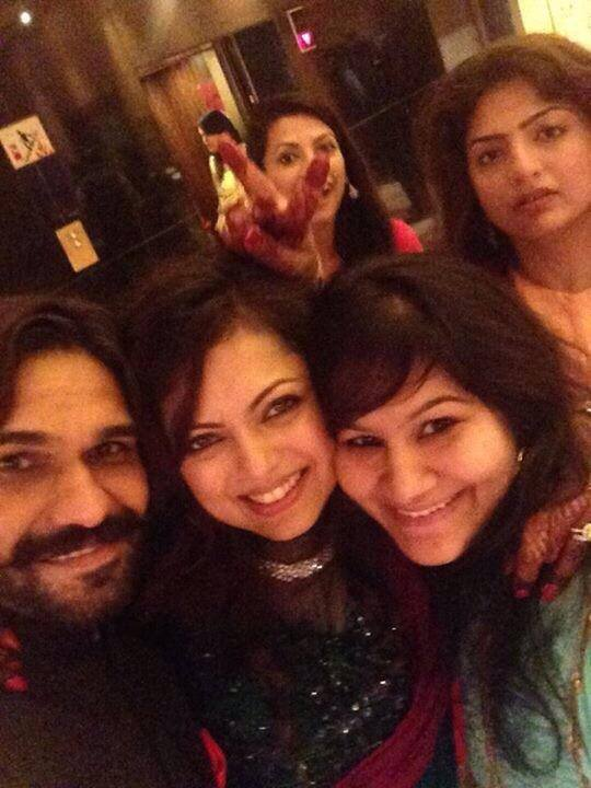 Drashti during her sangeet with friends