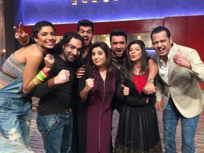Diandra, Praneet, Pritam, Farah, Ajaz, Sambhavna and Rahul