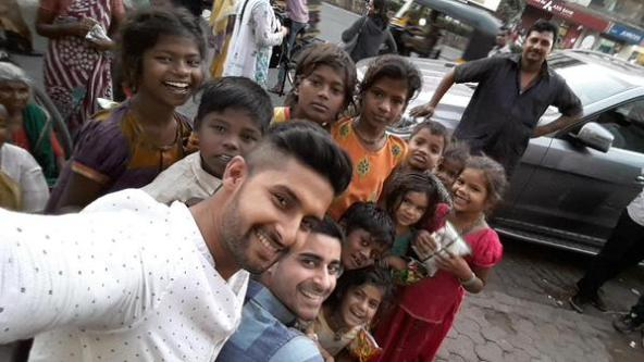Ravi Dubey and Gautam Rode raising awareness for street children