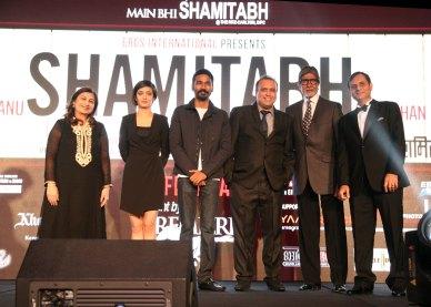 Mr. Amitabh Bachchan, Dhanush and Akshara Haasan With Javed Shafi..