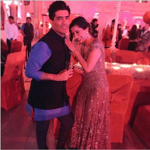 Manish and Sophie having fun