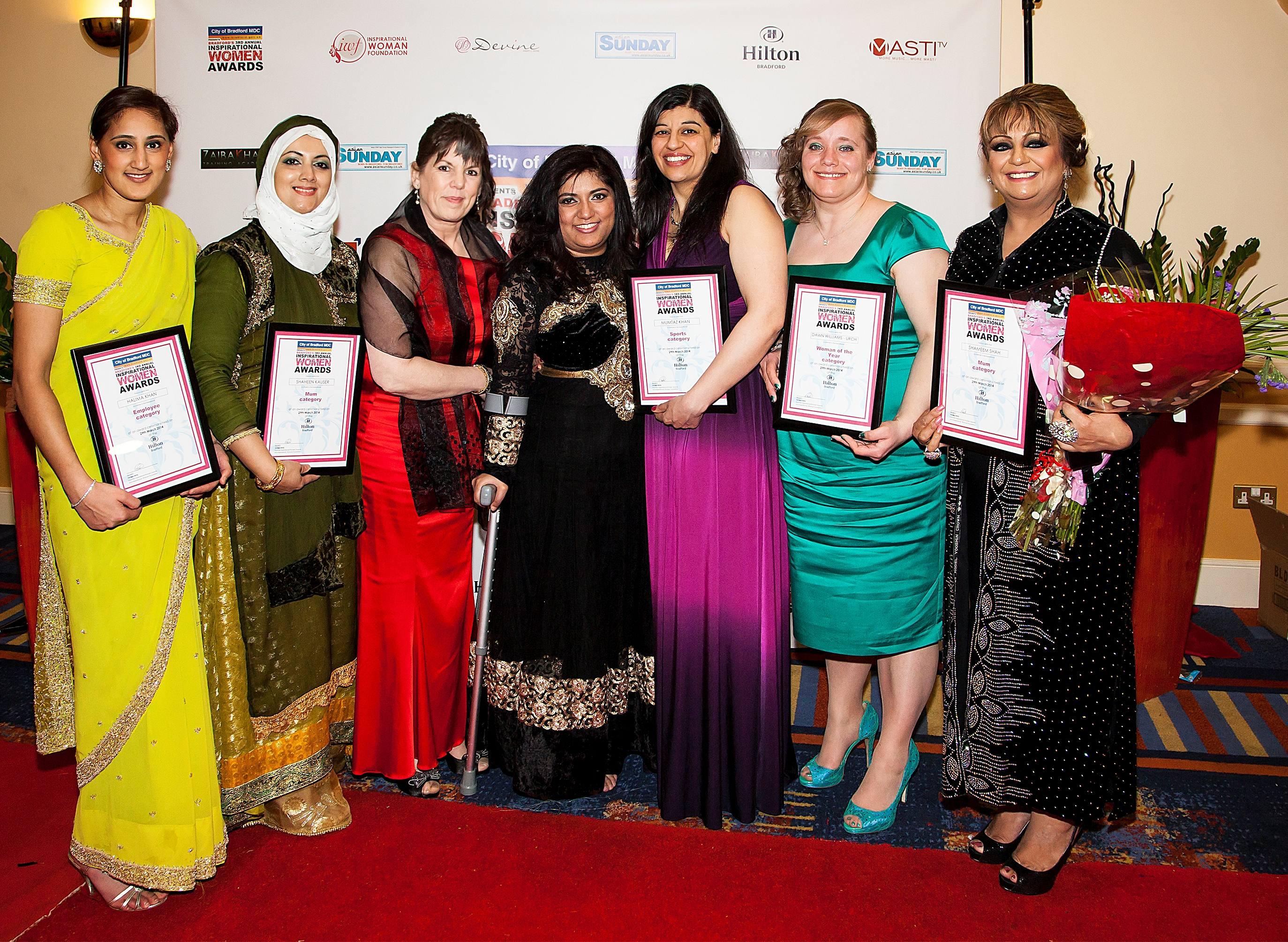 2014 Winners of Inspirational Women Awards with Fatima Patel 2014