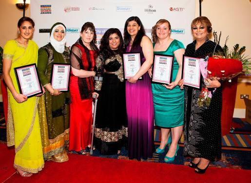 2014 Winners of Inspirational Women Awards with Fatima Patel 2014