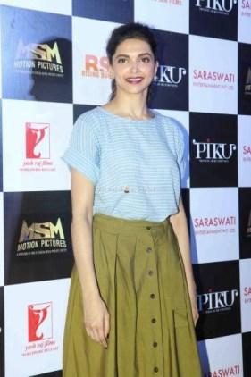 Bollywood actor Deepika Padukone during the trailer launch of film Piku in Mumbai