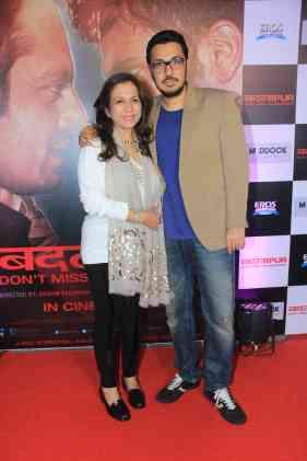 Dinesh Vijan and Karuna Dhawan at the success bash of Badlapur at sofitel bandra (9)