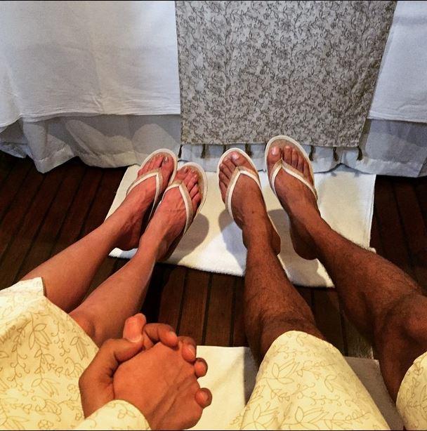 Upen and Karishma spa date