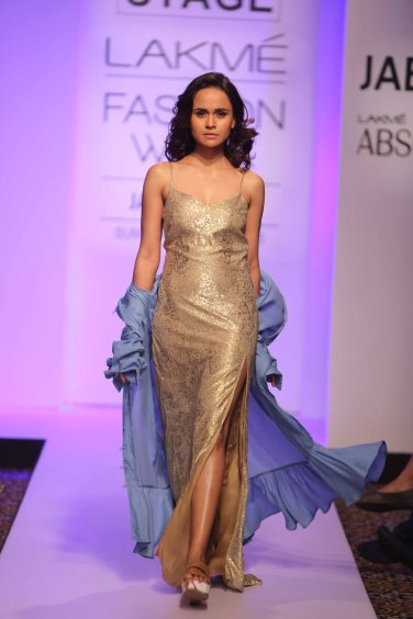 Model walks for Anjali Patel Mehta at Lakme Fashion Week SR 15