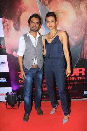 Nawazuddin Siddique and Radhika Apte at the success bash of Badlapur at sofitel bandra (36)