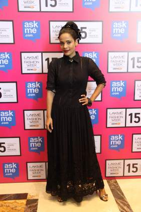 Priyanka Bose in Designer Pallavi Singhee creation at Lakme Fashion Week