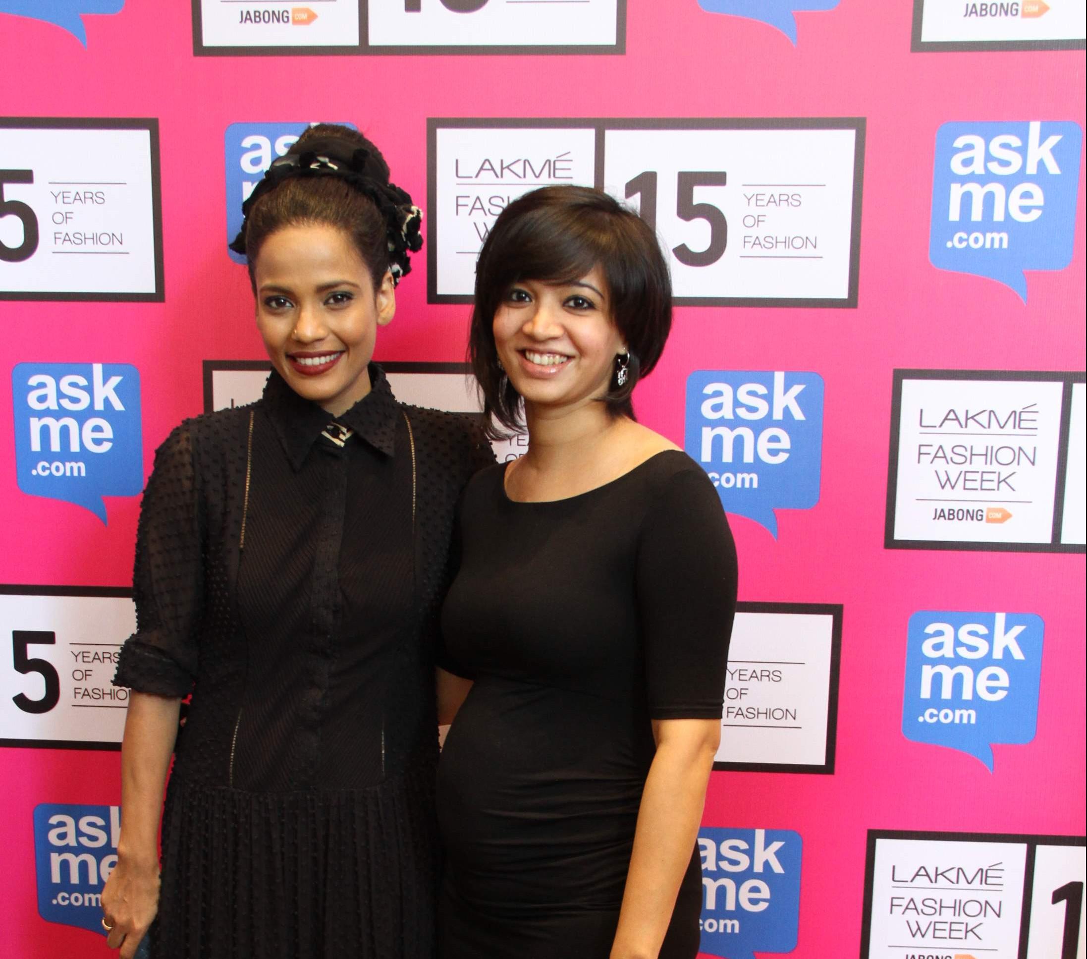 Priyanka Bose with Pallavi Singhee at Lakme