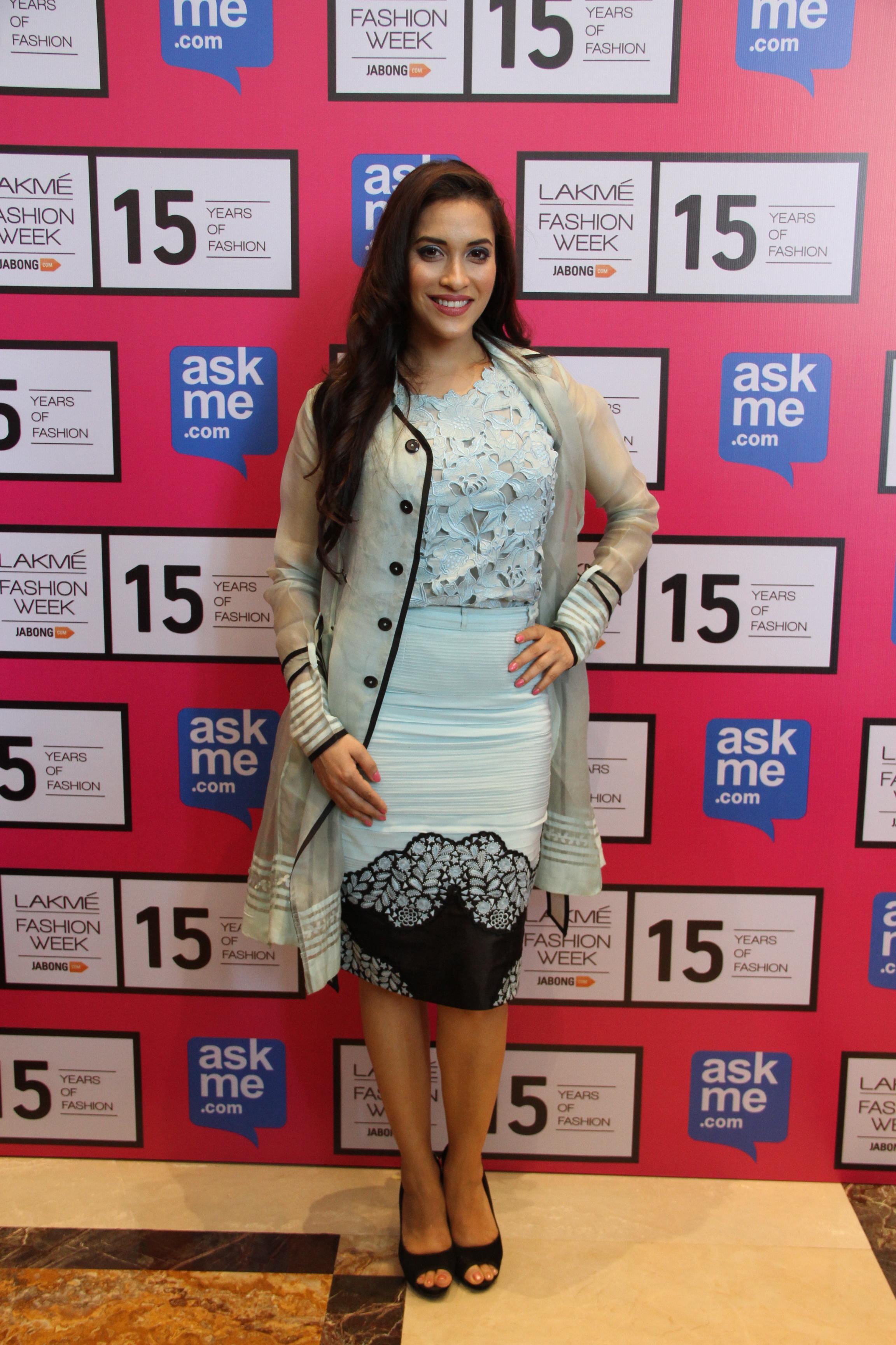 Rashmi Nigam in Designer Pallavi Singhee creation at Lakme Fashion Week