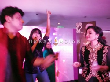 Sagarika Deb during the Bollywood Performance with Actress Chitrashi Sharma and Actor Unnat Dutt