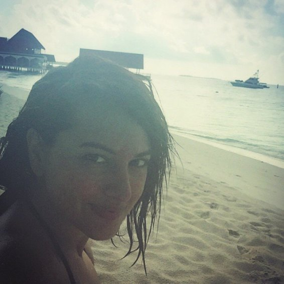 Sonakshi on the beach