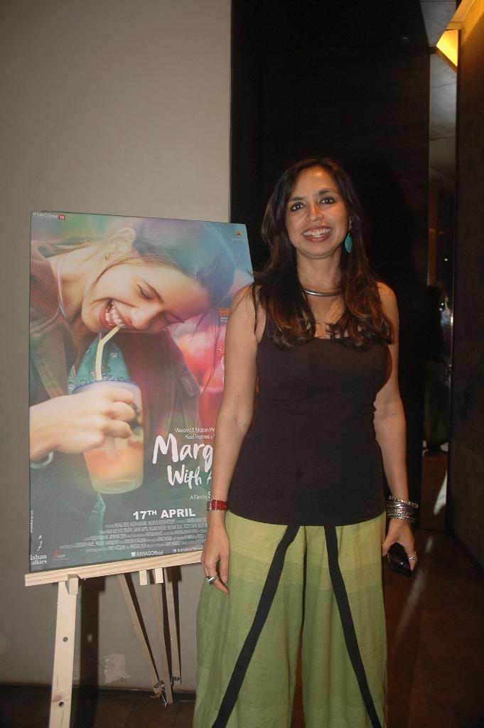 'Margarita, With A Straw' screening!