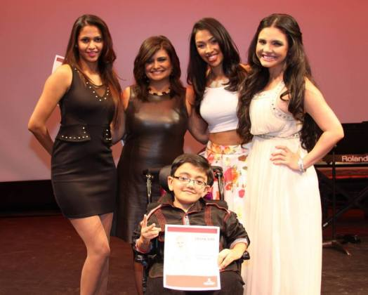 The Judges with winner Sparsh Shah