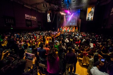 A full house show at Watford Colosseum! Parents, friends and well-wishers cheering the students and dancing along.