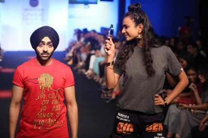 Model walks for Vir Das at LFW WF 15