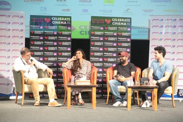 Athiya Shetty, Nikhil Advani,Sooraj Pancholi at Masterclass of Hero @Whistling Woods_1