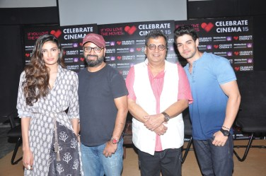 Athiya Shetty, Nikhil Advani,Subash Ghai,Sooraj Pancholi at Whistling Woods