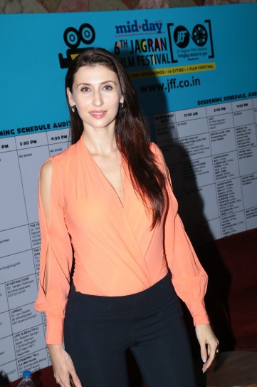 Claudia at the Opening Ceremony of the 6th Jagran Film Festival 2015