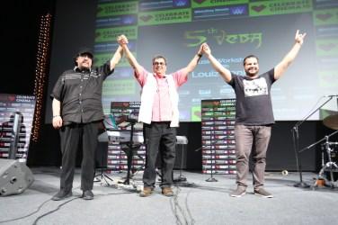 Louiz Babk,Subash Ghai,Gino Bank at Whistling Woods