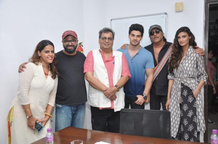 Meghna Ghai Puri,Nikhil Advani,Subash Ghai,Sooraj Pancholi,Athiya Shetty at Whistling Woods
