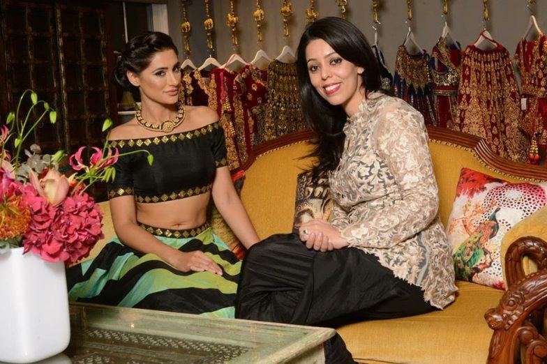 Nargis Fakri with Este Couture store owner Ashu Virdi
