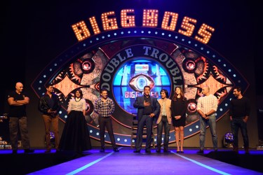 Salman Khan with the previous BB contestants