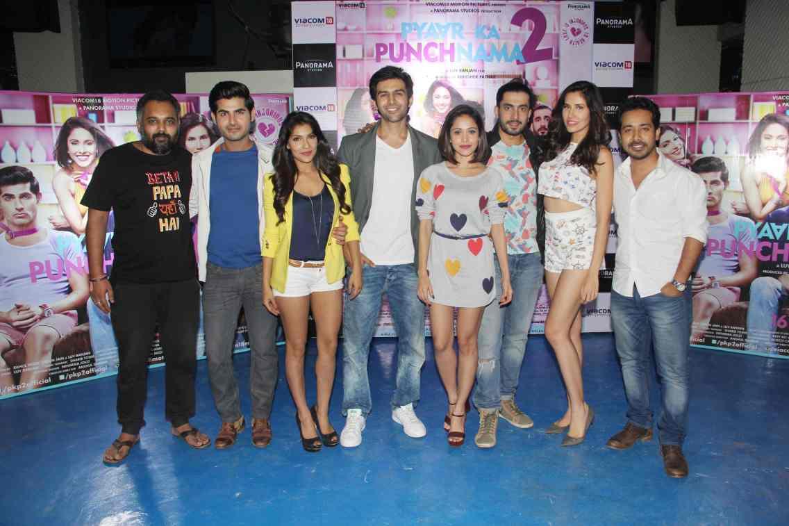 Dir Luv Ranjan, Omkar Kapoor, Ishita Sharma, Kartik Aaryan, Nushrat Bharucha, Sunny Singh, Sonalli Sehgall and producer Abhishek Pathak