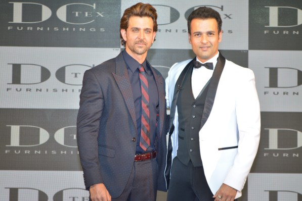 Hrithik and Ronit Roy at DCtex 'Dream Runner' Collection Launch