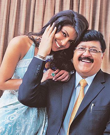 priyanka chopra and dad, ashok chopra
