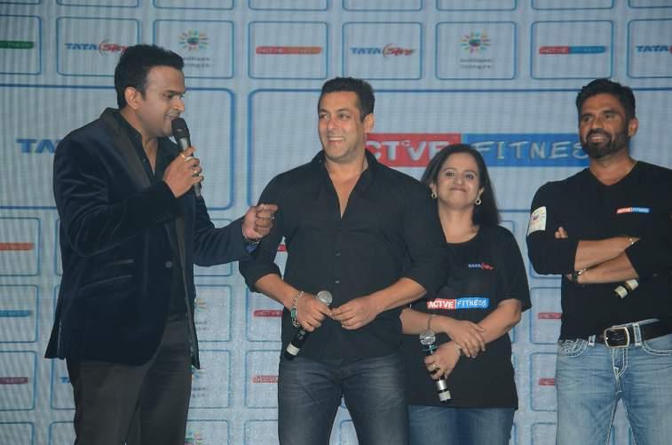 Siddharth Kannan, Salman Khan and Sunil Shetty
