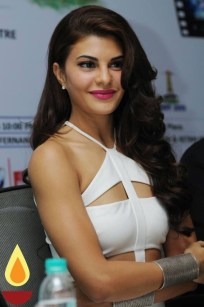 Jacqueline Fernandez during the promotion of British horror thriller film, Definition of Fear, in New Delhi, India