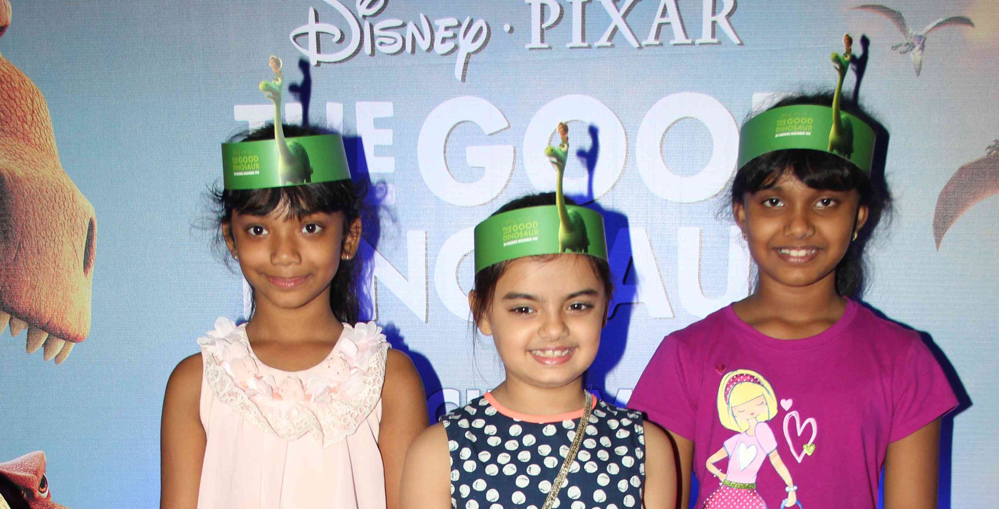 TV Celebrities and kids screen 'The Good Dinosaur'