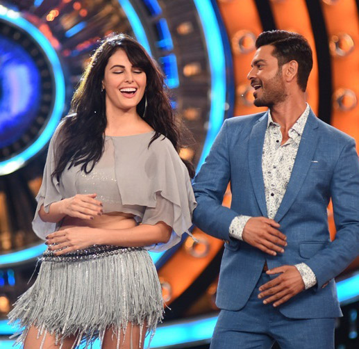 Mandana Karimi with Keith Sequeira on Bigg Boss. (Image Courtesy - Colors.)