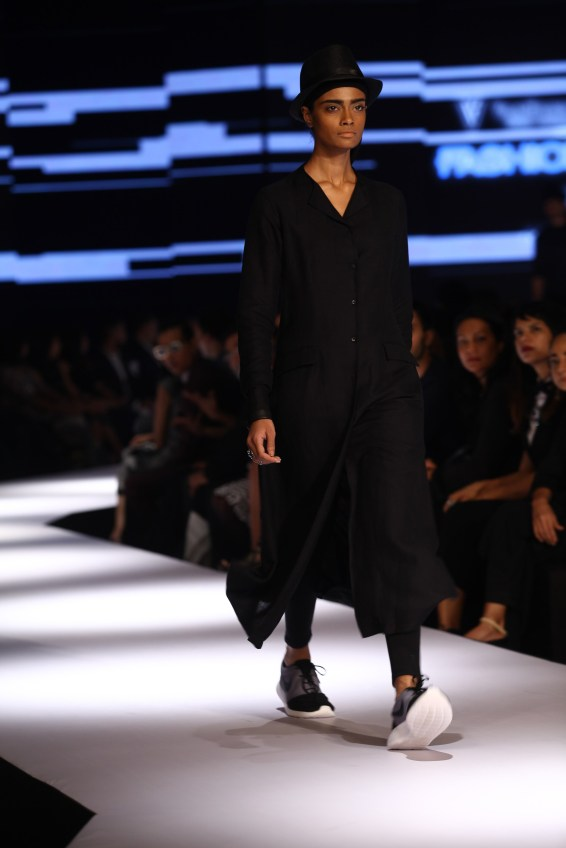 Model in Ujjawal Dubey on Day 2 of Van Heusen + GQ Fashion Nights