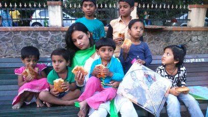 Kesariee Celebrating Kites with Children