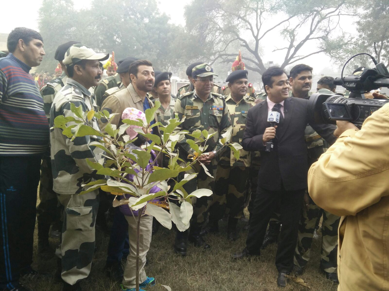 Sunny Deol at BSF Camp